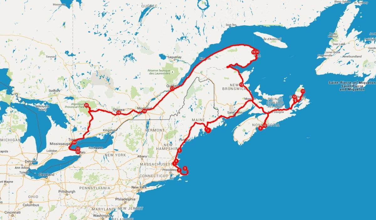 itinerario canada